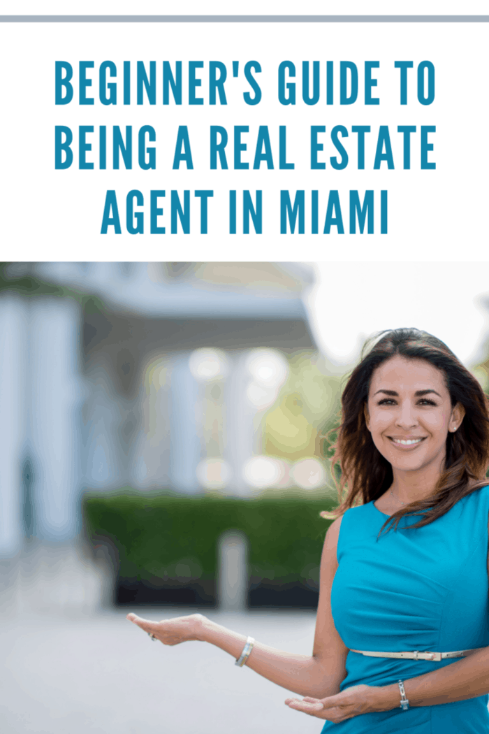 Successful real estate agent showing a property