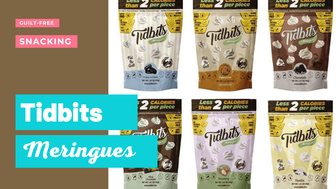 tidbits meringues come in a variety of flavors.