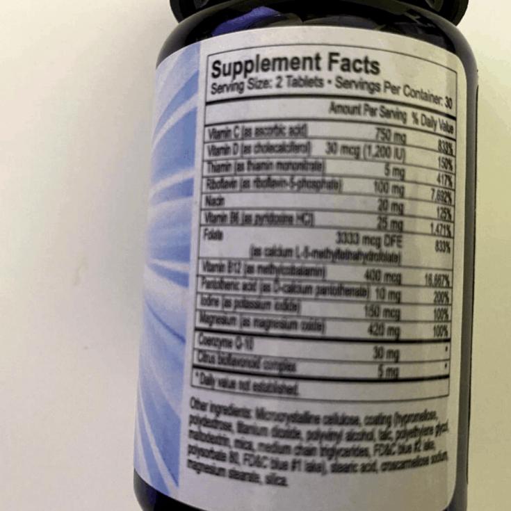 vous vitamin supplement facts