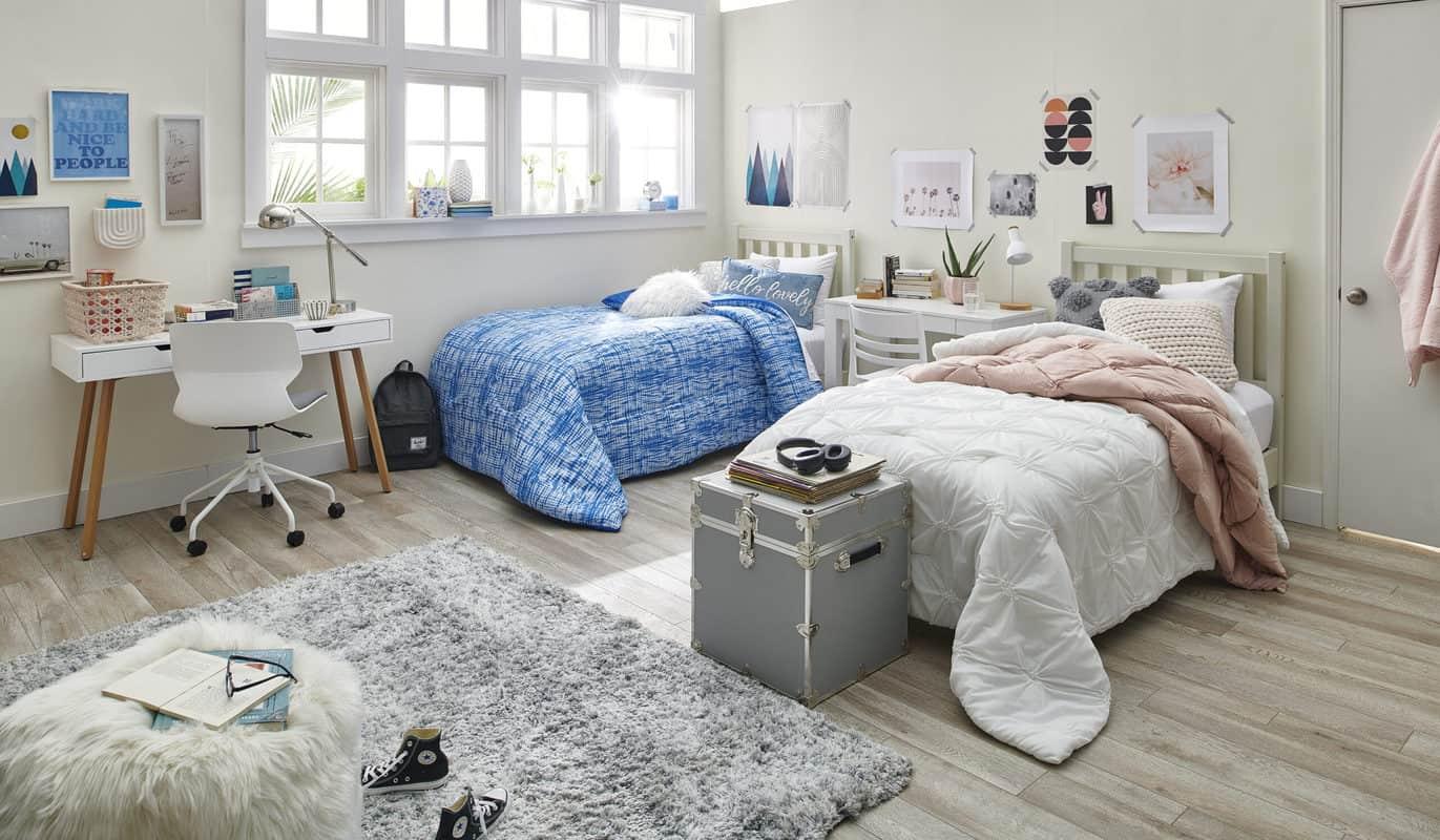 dorm room featuring talia comforter