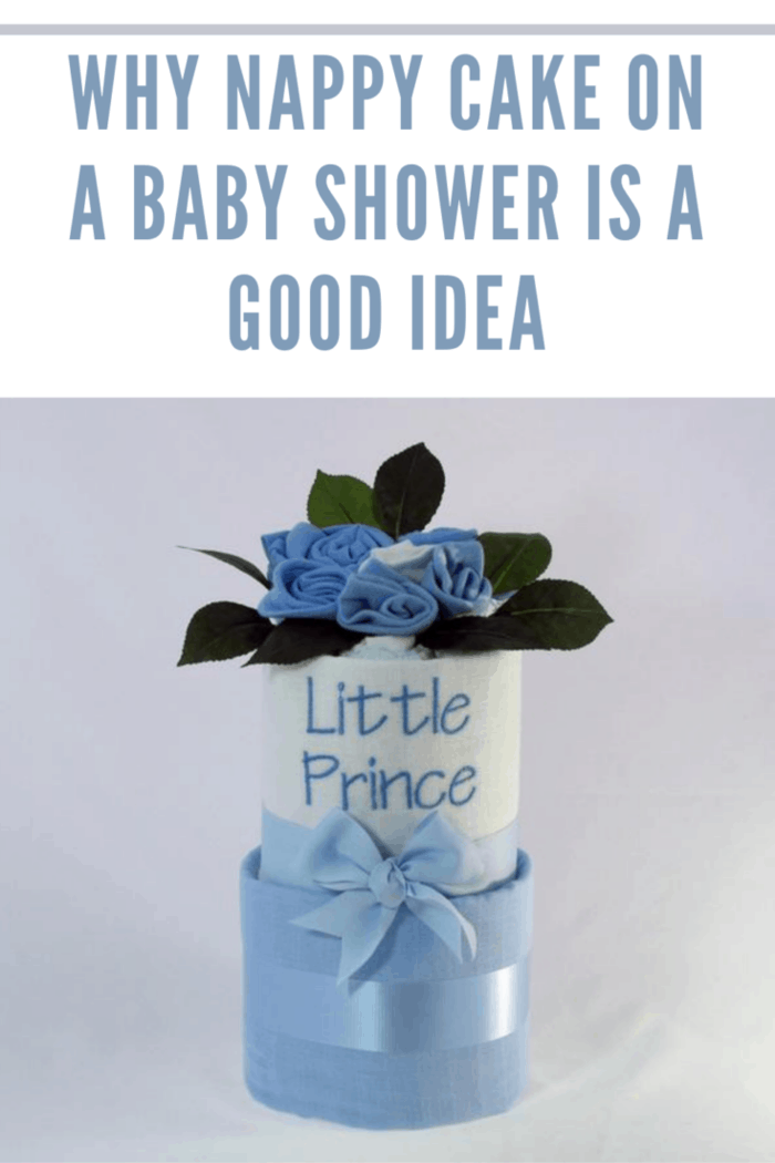 This blue accented, two-tier baby nappy cake is the perfect gift for the little prince who has just arrived. It features all the things he will need including 2 cotton muslin wraps, 2 singlets, 12 baby nappies and 3 pairs of baby socks.