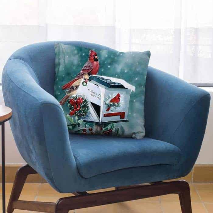 Christmas Cardinals Throw Pillow By Jenny Newland