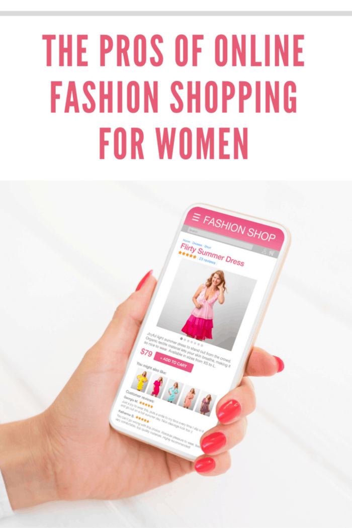 Woman Browsing Online Fashion Store on Her Phone