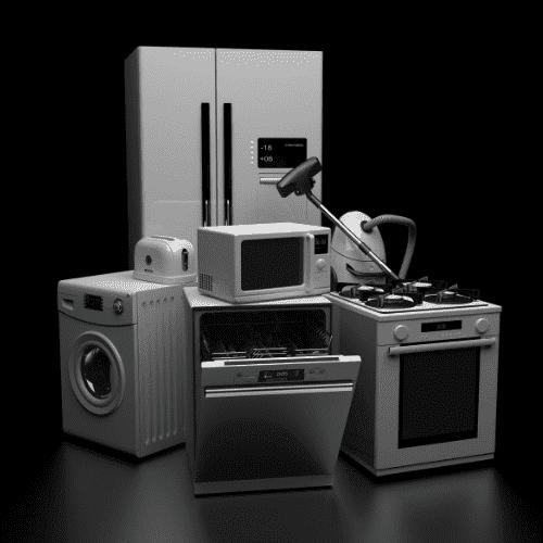 Home appliances black background