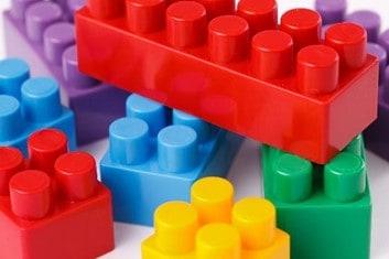 large plastic snap brick toys