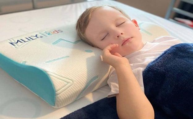 mlily pillow under sleeping boy
