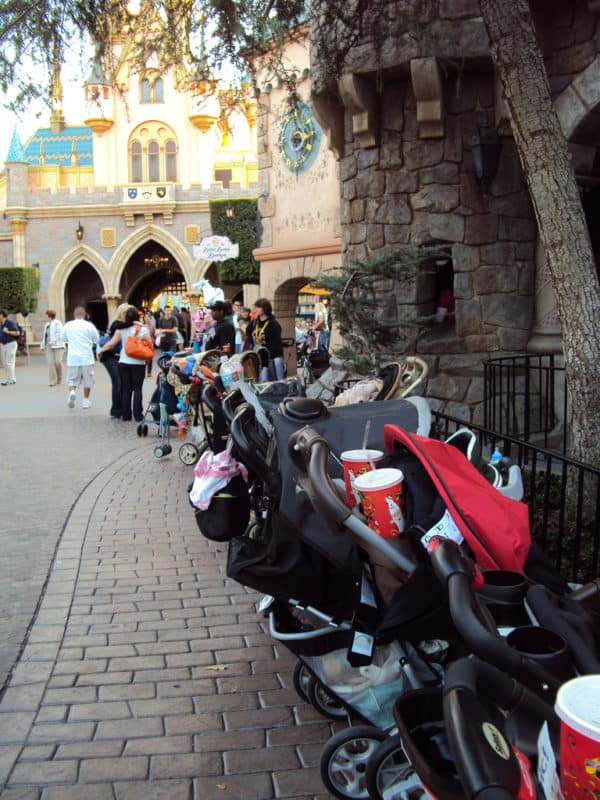 strollers parked