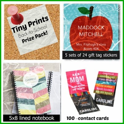 Back-to-School Tiny Prints prize pack giveaway