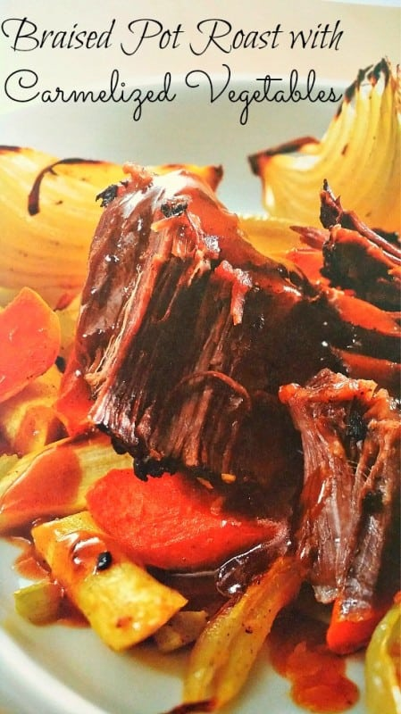 Braised Pot Roast with Carmelized Vegetables #Recipe