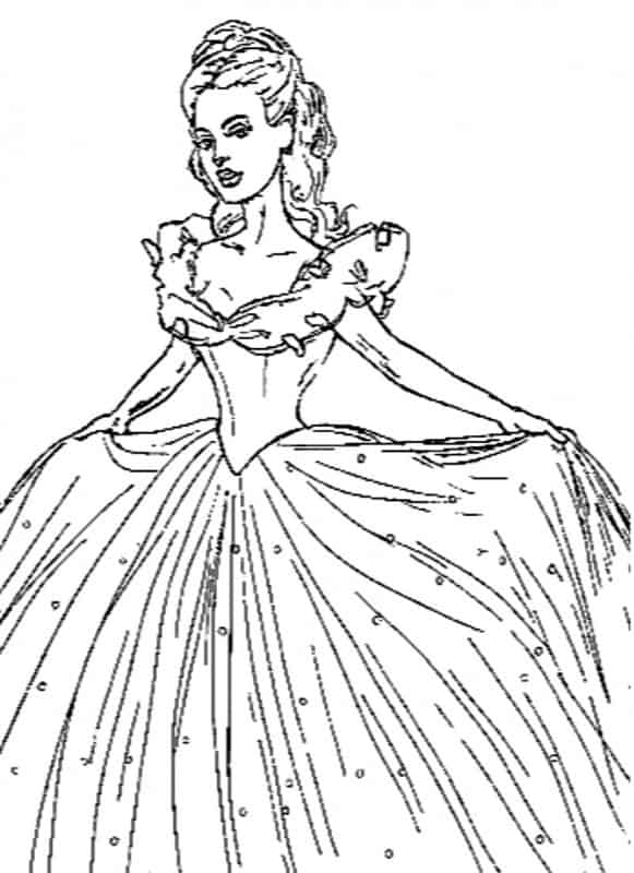 Free Coloring Pages Of Cindrella Disney Princess