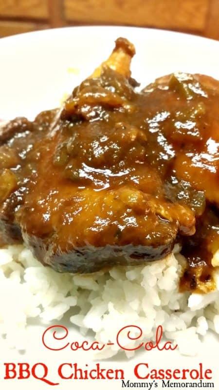 Coca-Cola BBQ Chicken Casserole Recipe Ingredients:
