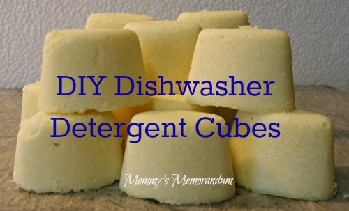 #DIY Dishwasher Detergent Cubes #green #Clean #cleaners #MakeYourOwn