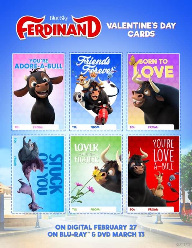 Ferdinand FREE Printable Valentines