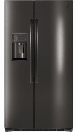 ge black stainless steel side by side refrigerator