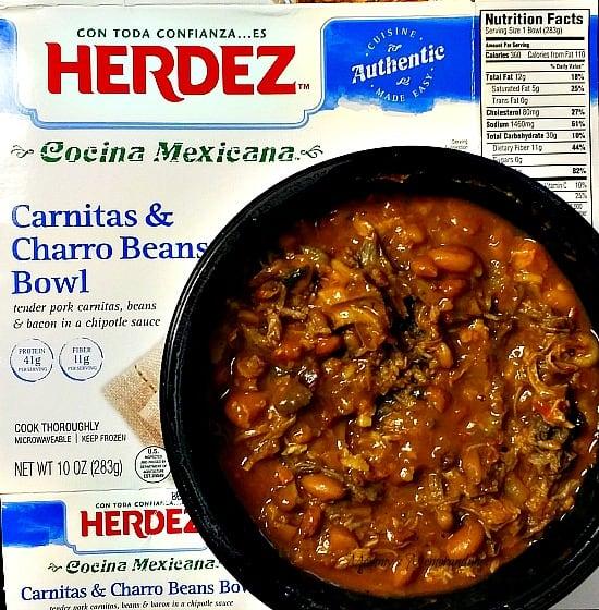HERDEZ Carnitas and Charro Beans Bowl