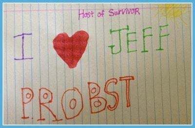 I heart Jeff Probst #survivor