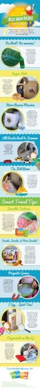 best mom hacks for summer infographic