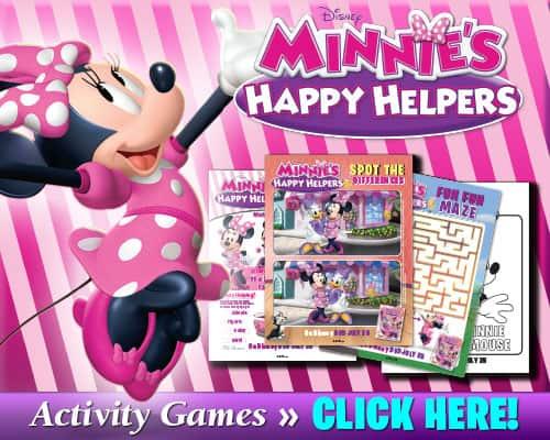Minnie's Happy Helper Free Printables
