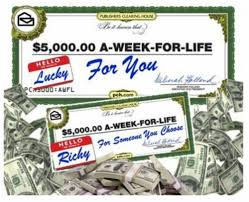 publishers clearing house win $5,000