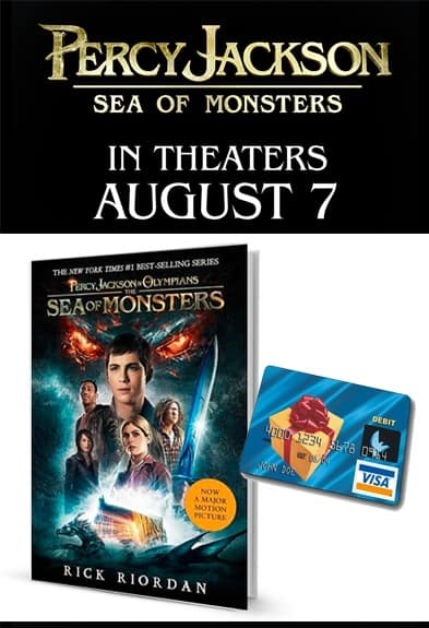 Percy Jackson Sea of Monsters Prize Pack