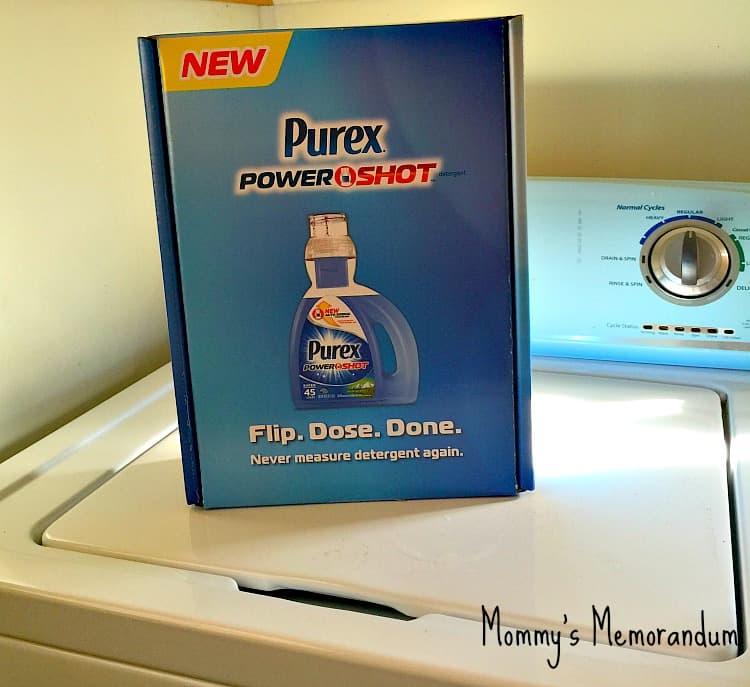 Purex PowerShot No-spill detergent