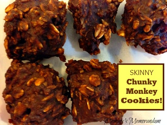 Skinny Chunky Monkey Cookies #recipe