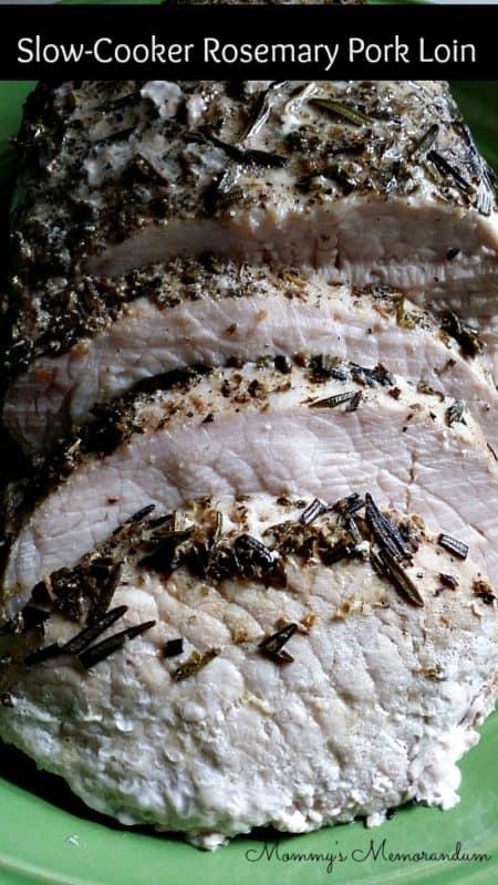 Slow-Cooker Rosemary Pork Loin #Recipe