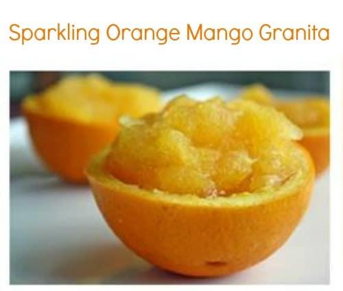 Sparkling Orange Mango Granita #recipe