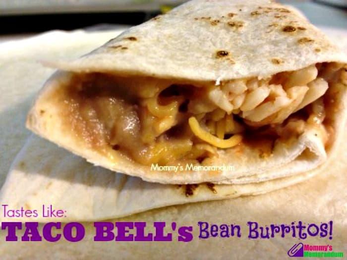 taco bell bean burrito copy cat