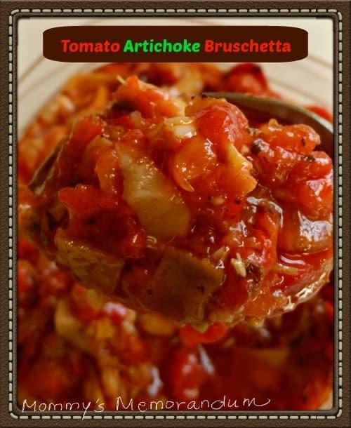 Tomato Artichoke Bruschetta #recipe