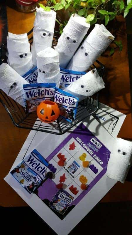 Welch's Fruit Snack Halloween Bingo Free Printable