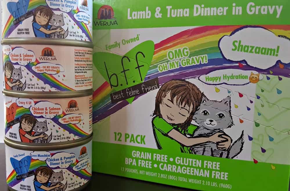 Weruva stacks of wet cat food