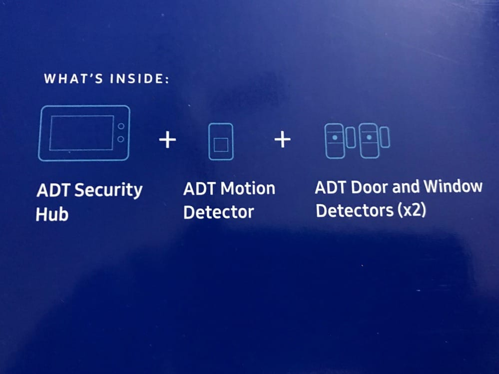 adt whats inside listed on box