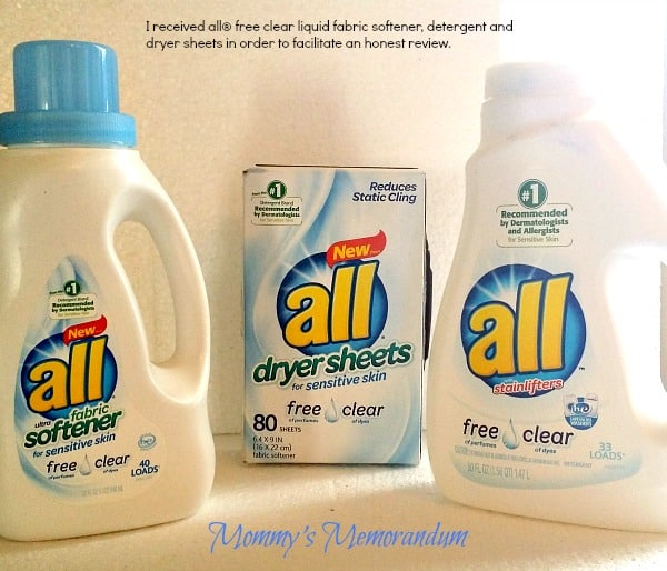 All Free Clear NEW Dryer Sheets and Fabric Softener ...