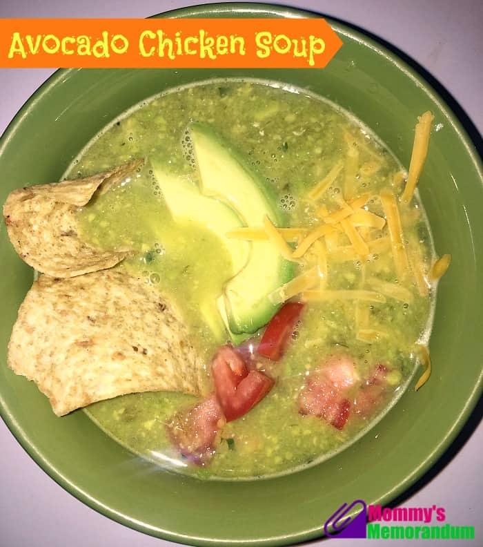 Chicken Avocado Tortilla Soup #Recipe • Mommy's Memorandum
