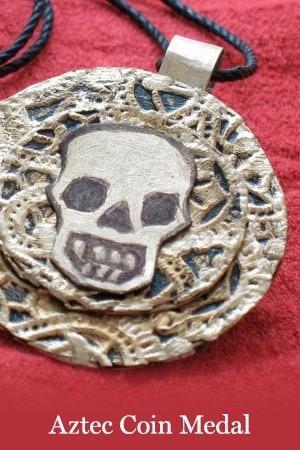 aztec coil medal craft