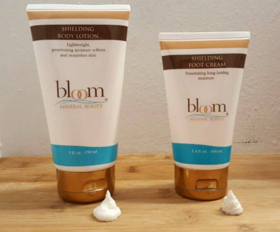 bloom beauty body lotion and foot cream