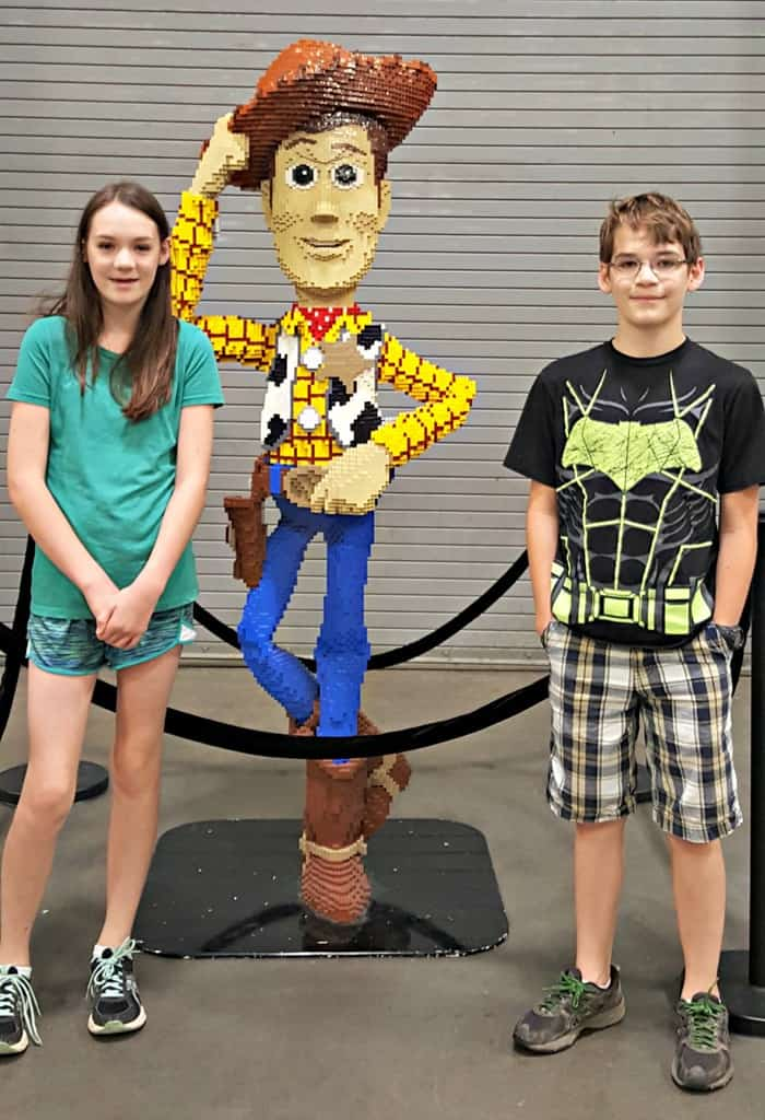 brickfest kids with woody