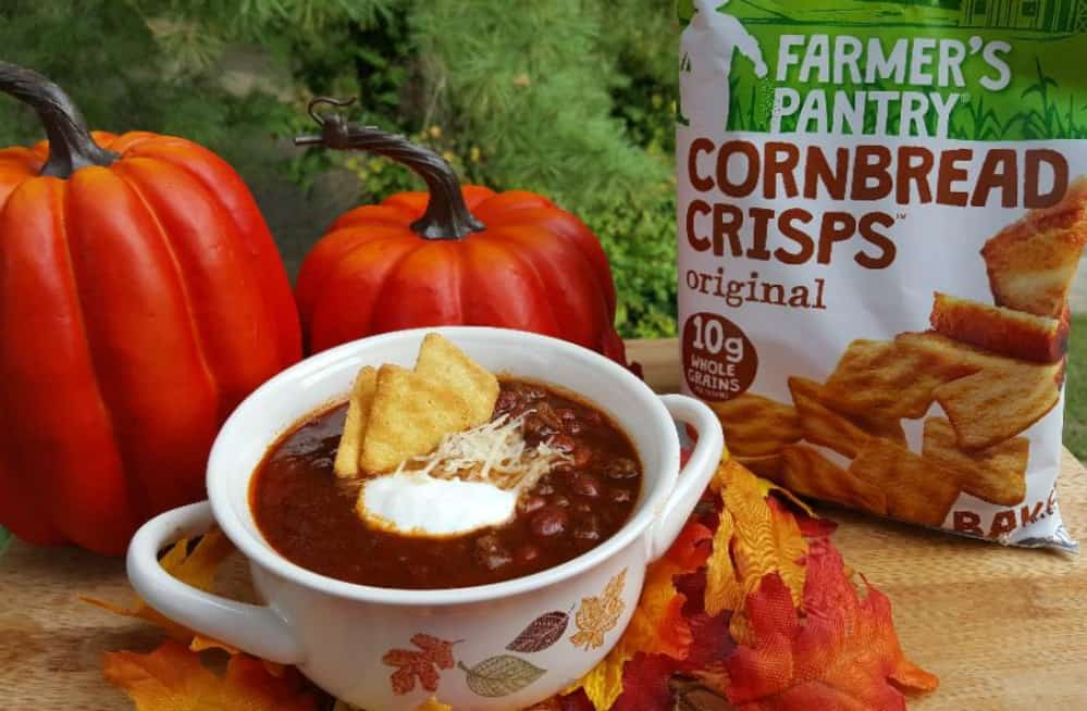 coca cola chili recipe with farmer's pantry cornbread crips