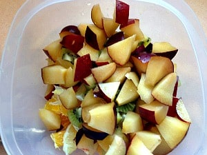 diced fruit for sangria