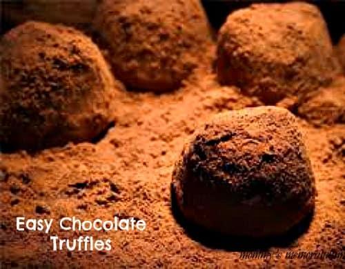 easy chocolate truffles recipes