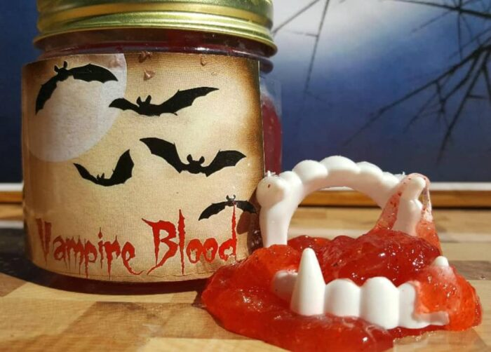 edible glow in the dark vampire blood slime