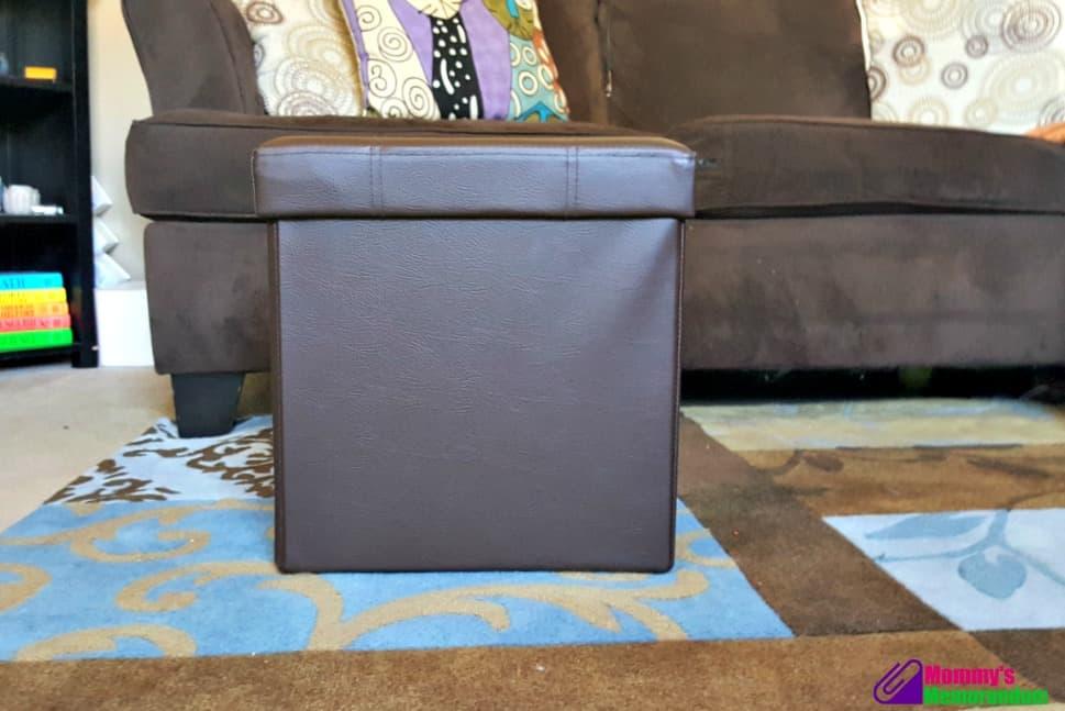 fhe foldable storage ottoman assembled