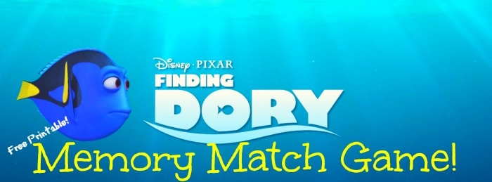 finding dory memory match printable