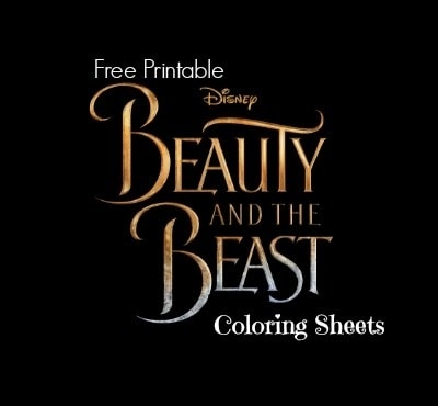 free printable beauty and the beast coloring sheets