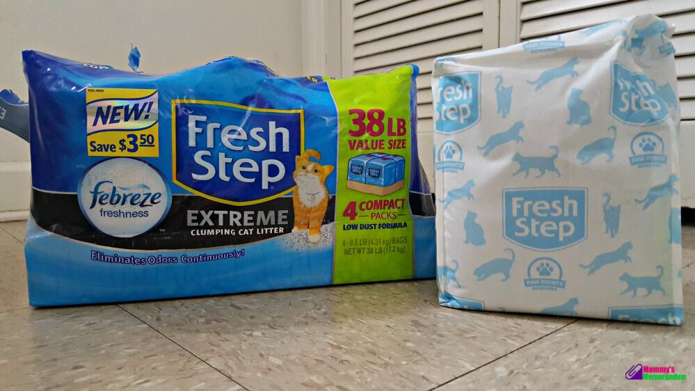 fresh step compact pack cat litter with pack showing