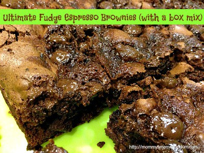 Easy Ultimate Fudge Espresso Brownies W A Box Mix