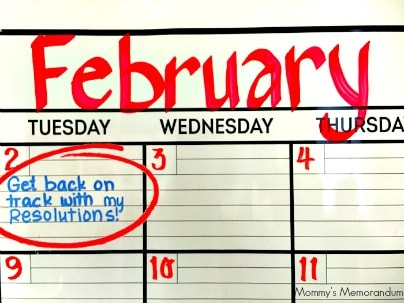Get back on track with my resolutions