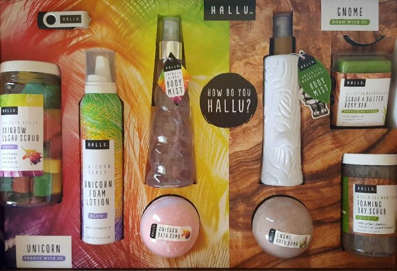 hallu bath and body collection
