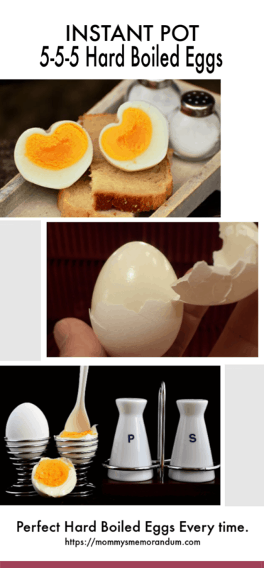 Perfect Hard Boiled Eggs in the Instant Pot collage